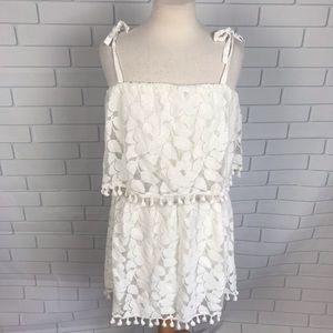 Xhilaration Junior Large Halter Tube dress Ivory